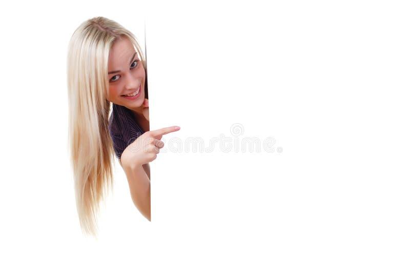 λευκή γυναίκα εμβλημάτω&nu στοκ εικόνα