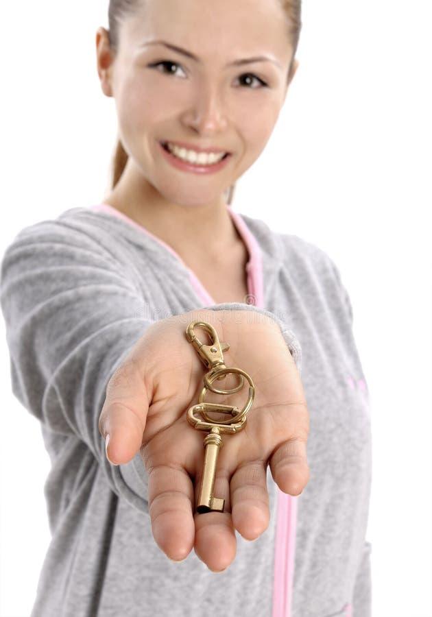 λευκή γυναίκα πλήκτρων ε& στοκ εικόνα με δικαίωμα ελεύθερης χρήσης