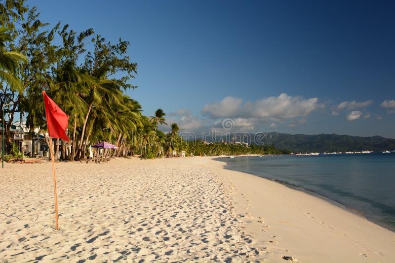 Λευκή παραλία κατά την καραντίνα του Κορονοϊός Νήσος Μπορακάι Ακλάν Δυτικές Βισάγιας Φιλιππίνες στοκ εικόνες