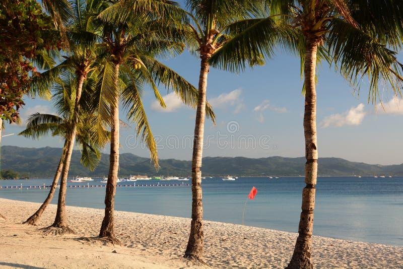 Λευκή παραλία κατά την καραντίνα Covid-19 Νήσος Μπορακάι Ακλάν Δυτικές Βισάγιας Φιλιππίνες στοκ εικόνα με δικαίωμα ελεύθερης χρήσης