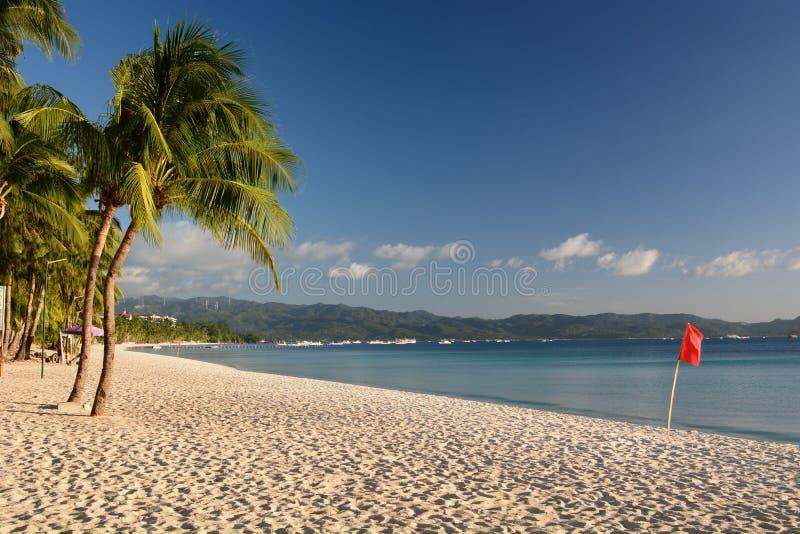 Λευκή παραλία κατά την καραντίνα Covid-19 Νήσος Μπορακάι Δυτικές Βισάγιας Φιλιππίνες στοκ εικόνα με δικαίωμα ελεύθερης χρήσης
