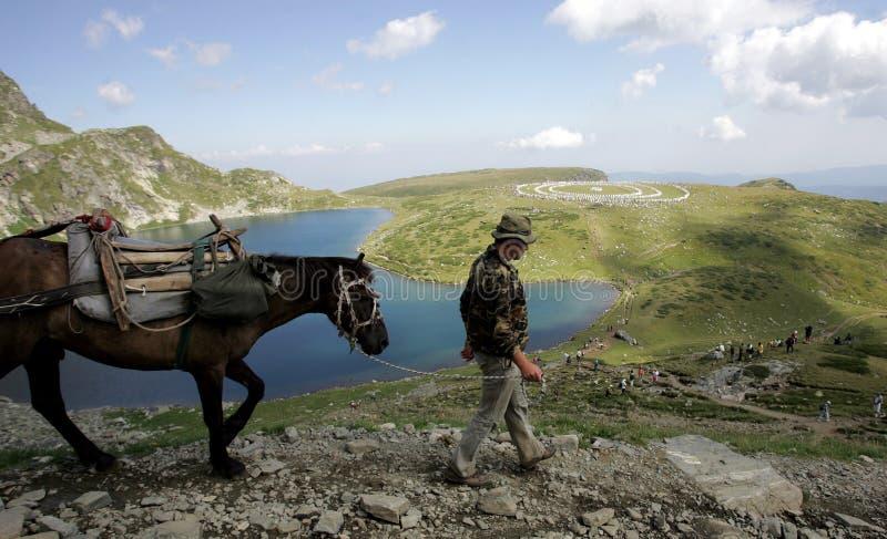 Λευκιά αδελφοσύνη βουνών της Βουλγαρίας Rila στοκ φωτογραφίες με δικαίωμα ελεύθερης χρήσης