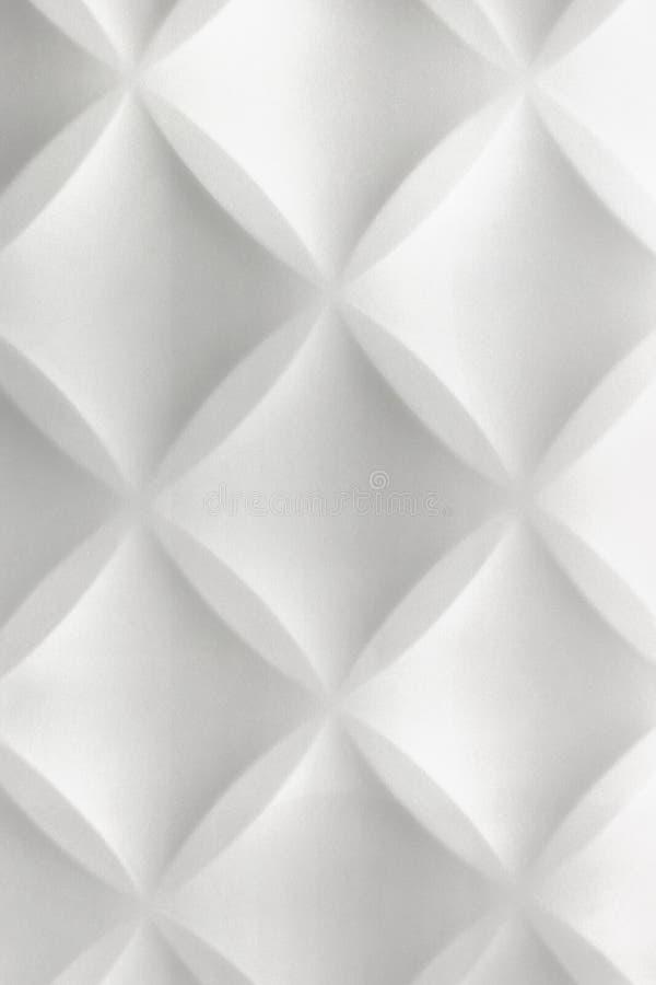 Λευκιά αφηρημένη τρισδιάστατη σύγχρονη ΤΣΕ τοίχων κεραμιδιών εγχώριου εσωτερική πολυστυρολίου στοκ φωτογραφία με δικαίωμα ελεύθερης χρήσης
