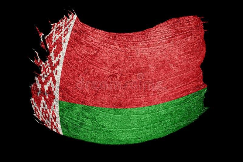 Λευκορωσική σημαία Grunge Λευκορωσική σημαία με τη σύσταση grunge brunhilda απεικόνιση αποθεμάτων