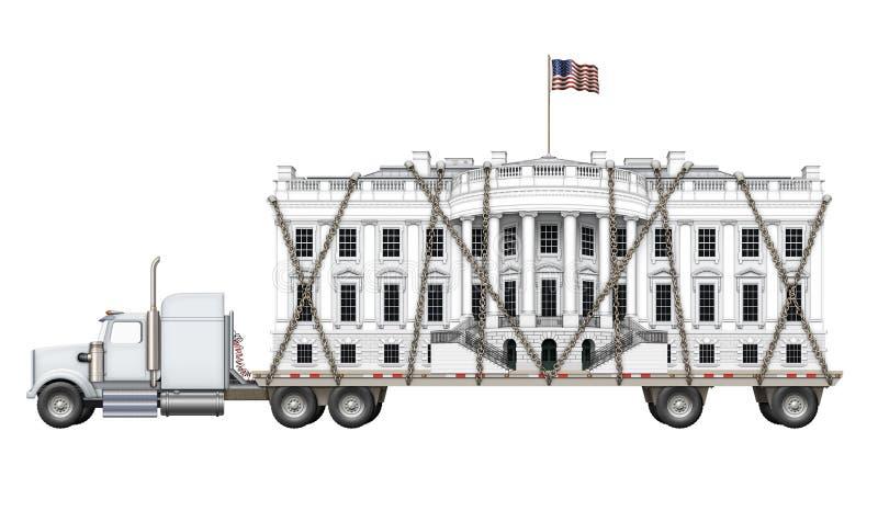 Λευκός Οίκος που παραδίδεται διανυσματική απεικόνιση