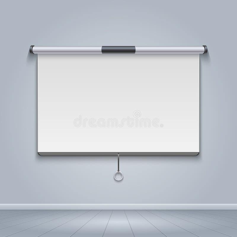 Λευκός πίνακας, συνανμένος οθόνη, διανυσματική απεικόνιση πινάκων διαφημίσεων κινηματογράφων ελεύθερη απεικόνιση δικαιώματος