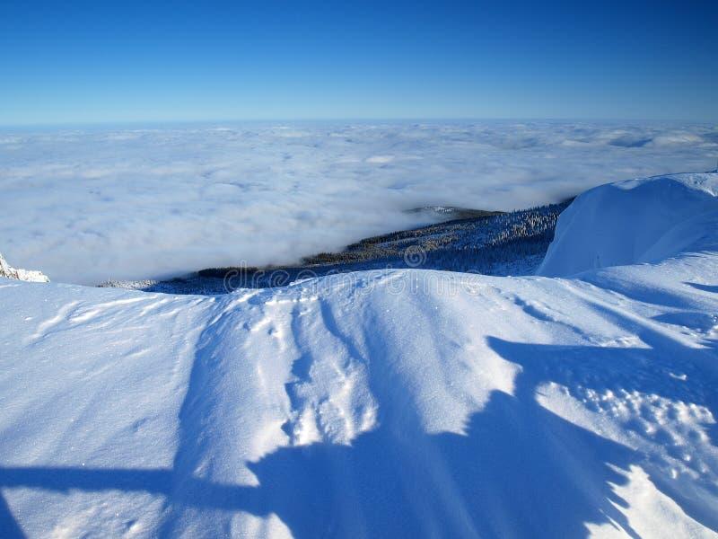 Λευκότητα στα γιγαντιαία βουνά/Karkonosze στοκ φωτογραφία