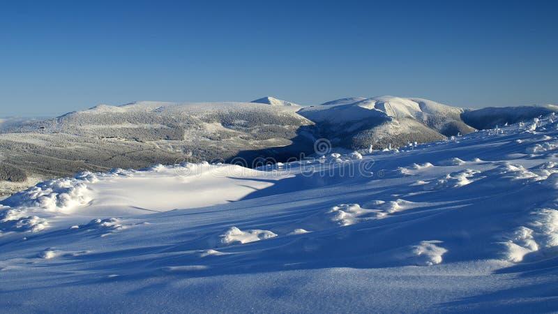 Λευκότητα στα γιγαντιαία βουνά/Karkonosze στοκ εικόνα