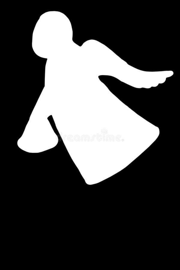λευκό αγγέλου διανυσματική απεικόνιση