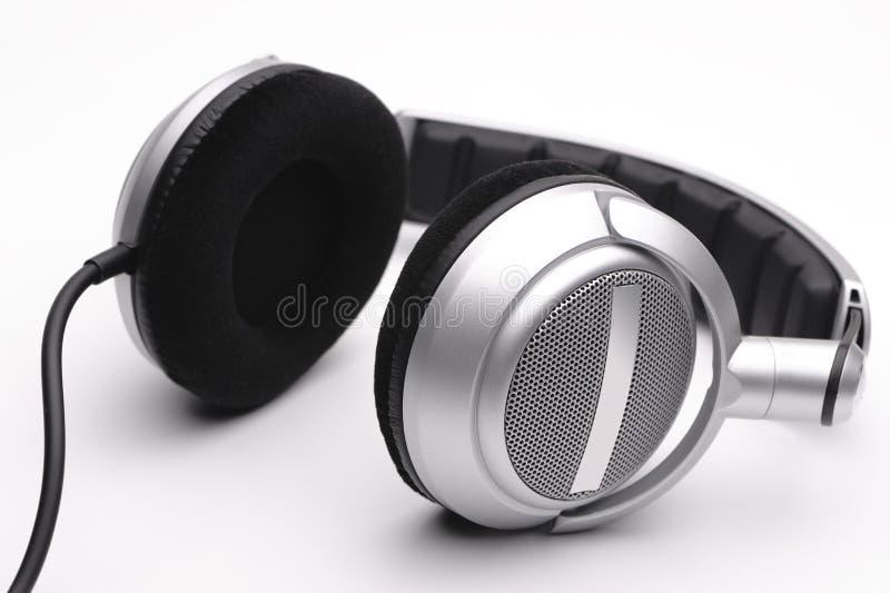 λευκό ακουστικών ανασκόπησης στοκ φωτογραφία