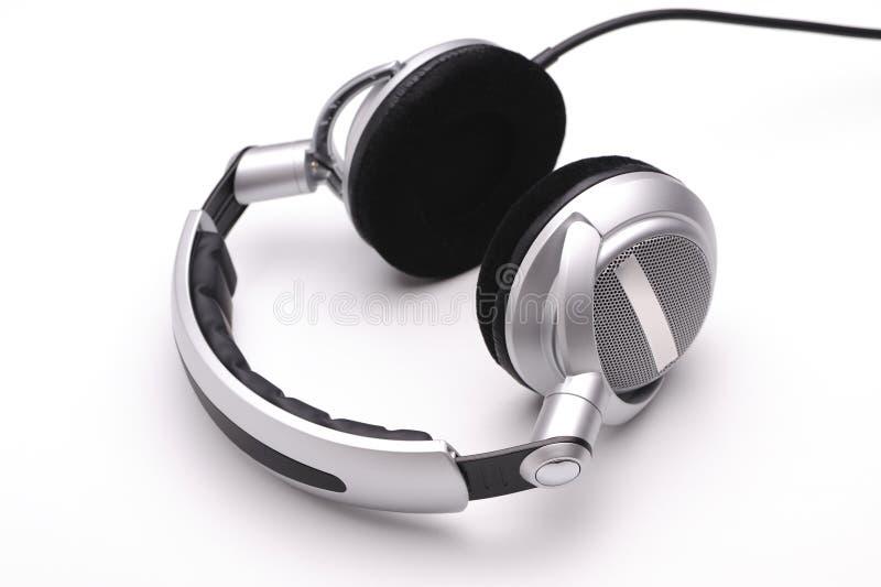 λευκό ακουστικών ανασκ στοκ φωτογραφίες