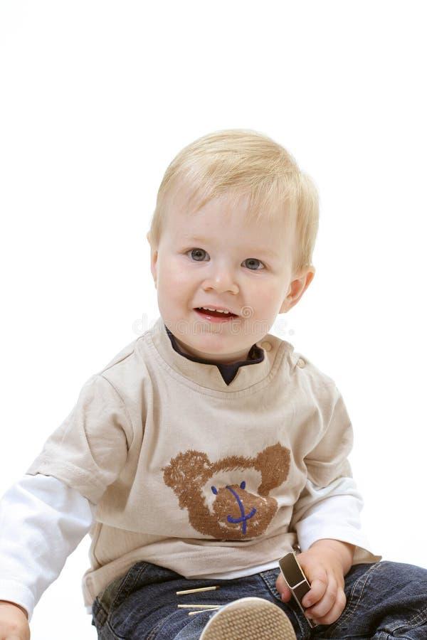 Download λευκό ανασκόπησης μωρών στοκ εικόνα. εικόνα από κατσίκι - 397339