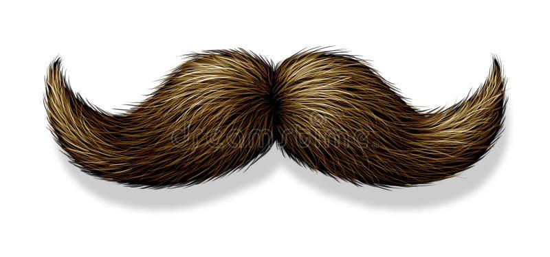 λευκό ανασκόπησης moustache διανυσματική απεικόνιση