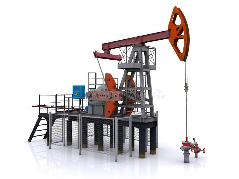 λευκό αντλιών πετρελαίο&u διανυσματική απεικόνιση