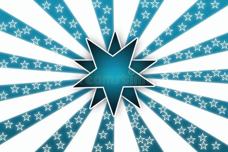 λευκό αστεριών ανασκόπησ& ελεύθερη απεικόνιση δικαιώματος