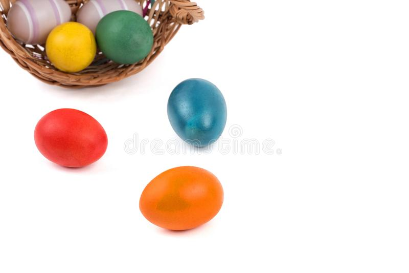 λευκό αυγών Πάσχας καλα&th στοκ εικόνες