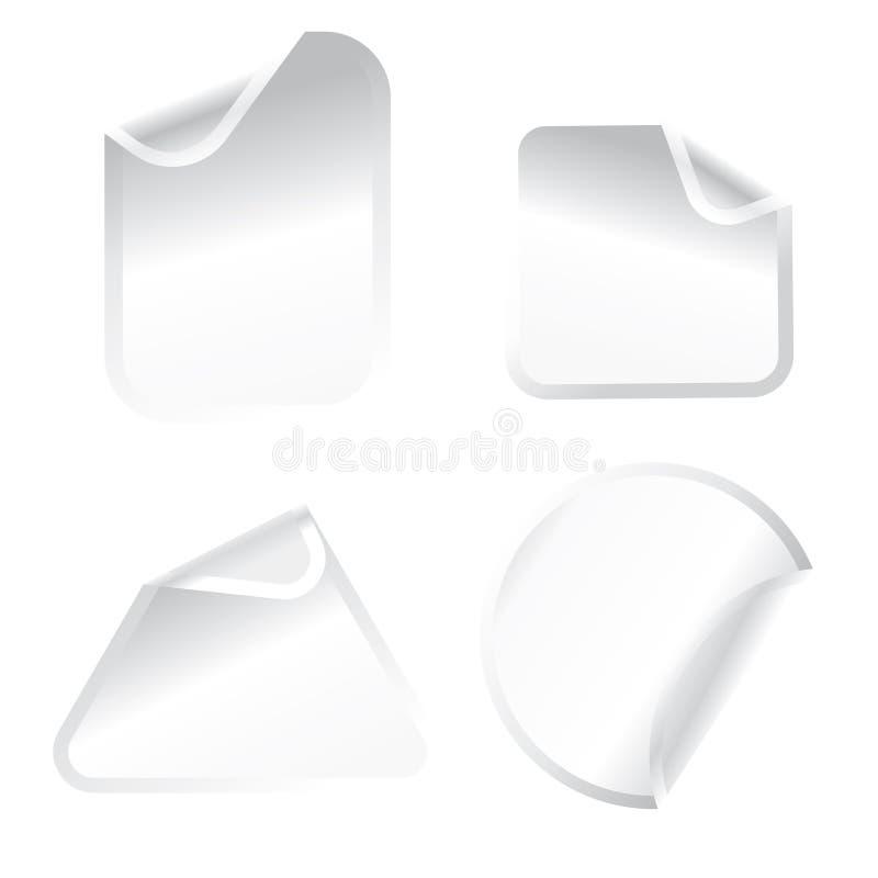 λευκό αυτοκόλλητων ετ&iota απεικόνιση αποθεμάτων