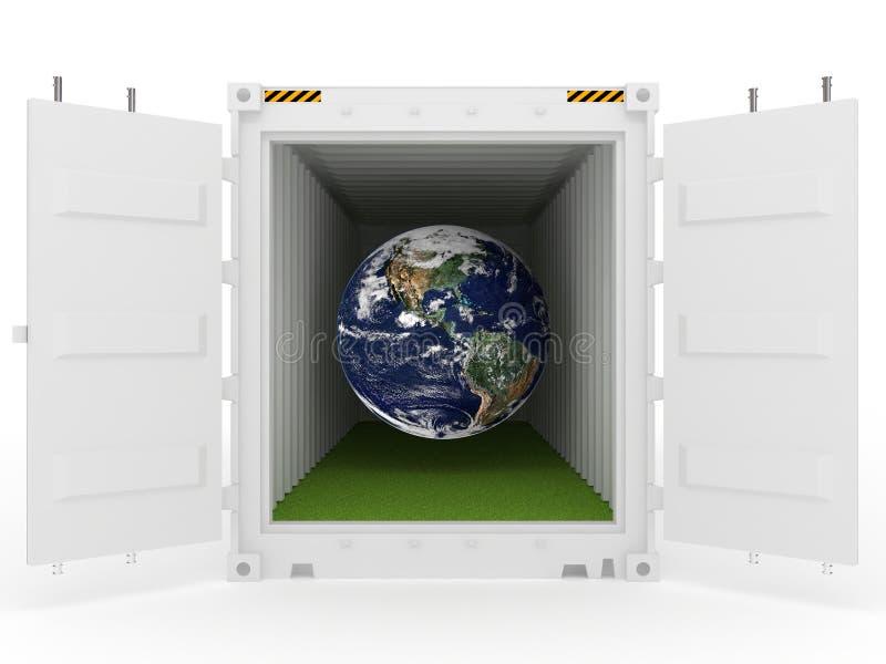 λευκό γήινης χλόης εμπορ&eps απεικόνιση αποθεμάτων