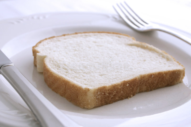 λευκό γευμάτων ψωμιού στοκ εικόνες με δικαίωμα ελεύθερης χρήσης