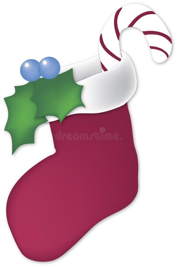 λευκό γυναικείων καλτσών Χριστουγέννων διανυσματική απεικόνιση