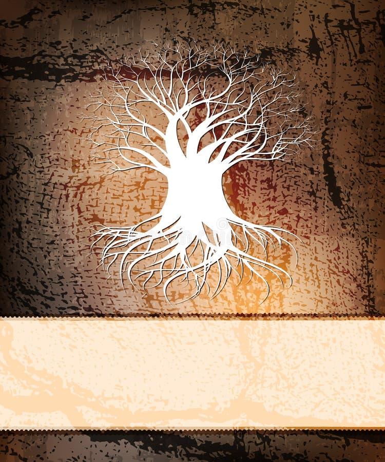 λευκό δέντρων διανυσματική απεικόνιση