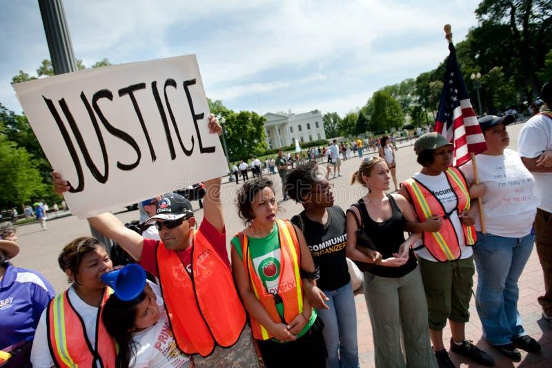 λευκό διαμαρτυρίας σπιτ& στοκ εικόνα με δικαίωμα ελεύθερης χρήσης