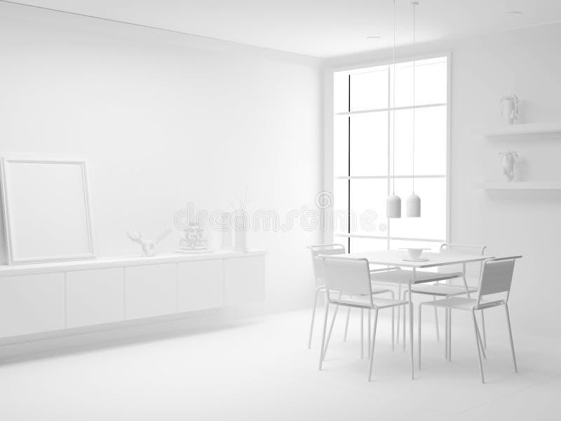 λευκό διαμερισμάτων απεικόνιση αποθεμάτων
