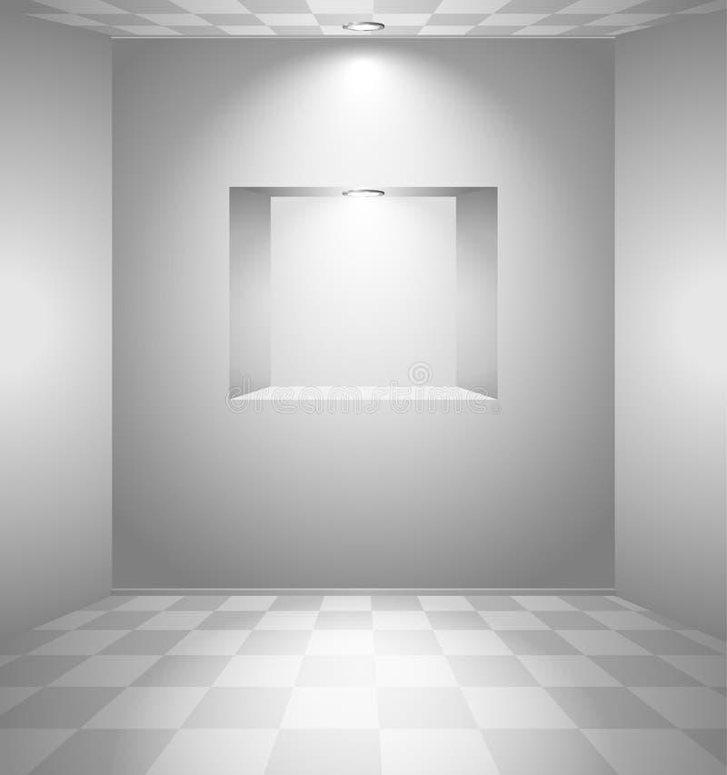 λευκό δωματίων θέσεων διανυσματική απεικόνιση