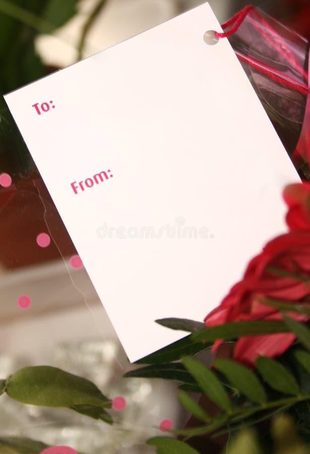 λευκό δώρων καρτών στοκ εικόνες