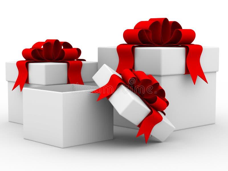 λευκό δώρων κιβωτίων ελεύθερη απεικόνιση δικαιώματος