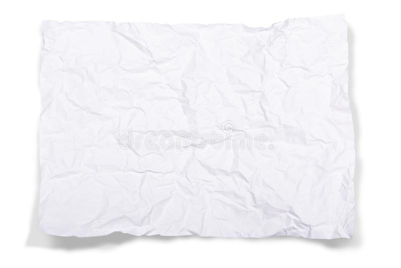 λευκό εγγράφου που ζαρώνεται στοκ εικόνα