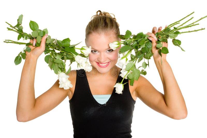Download λευκό εφήβων τριαντάφυλ&lambda Στοκ Εικόνες - εικόνα από λεπτομέρειες, κοιτάζει: 1534470