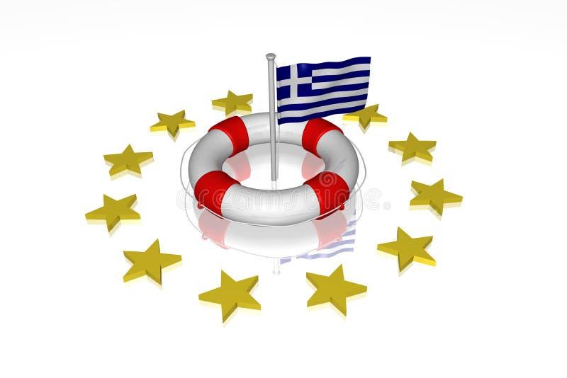 λευκό ζωής της Ελλάδας &sig απεικόνιση αποθεμάτων