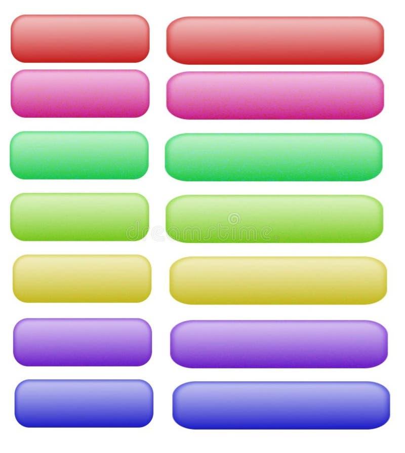 λευκό Ιστού κουμπιών στοκ φωτογραφίες με δικαίωμα ελεύθερης χρήσης