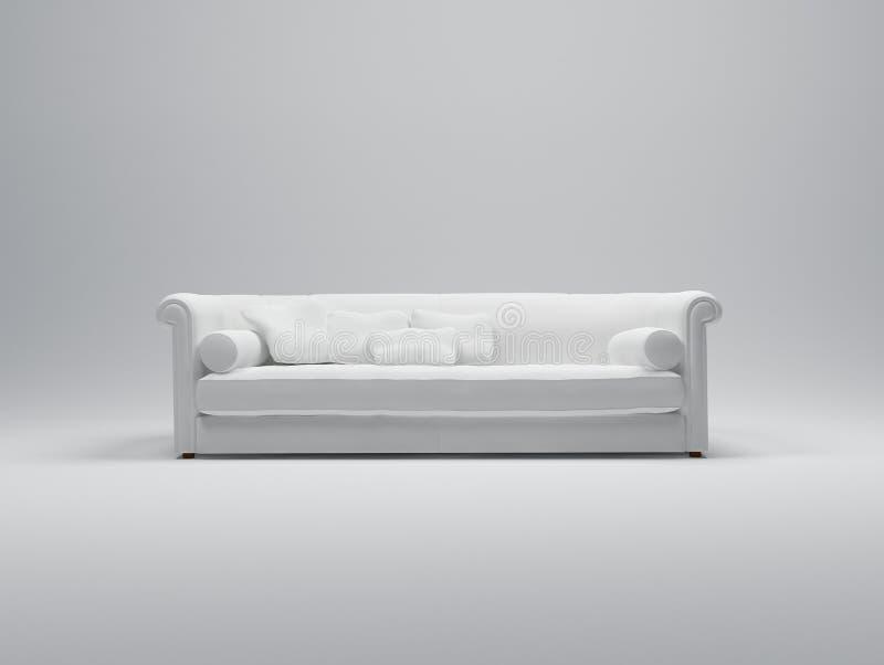 λευκό καναπέδων ελεύθερη απεικόνιση δικαιώματος