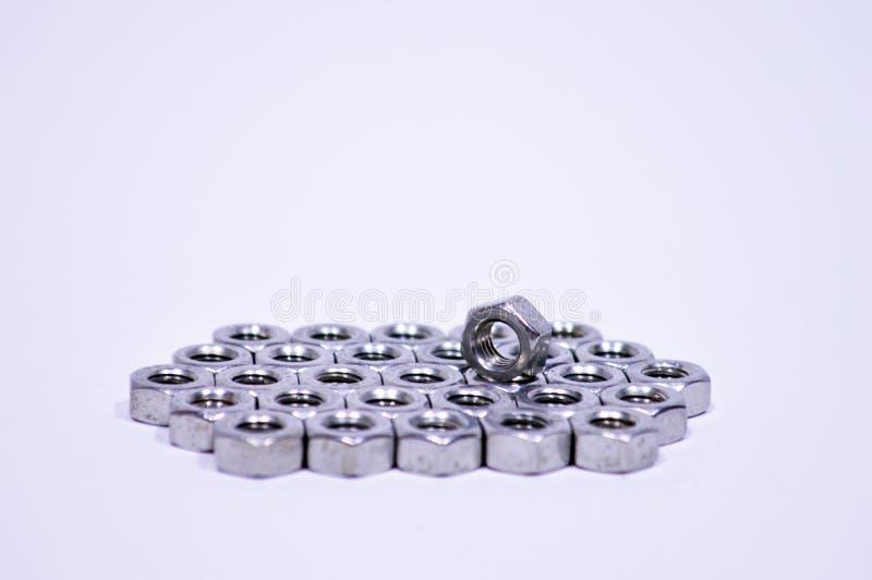 λευκό καρυδιών ανασκόπησης στοκ εικόνα με δικαίωμα ελεύθερης χρήσης