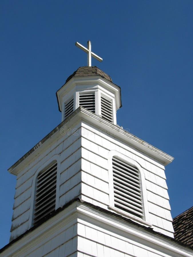 λευκό κινηματογραφήσεων σε πρώτο πλάνο εκκλησιών στοκ εικόνα με δικαίωμα ελεύθερης χρήσης