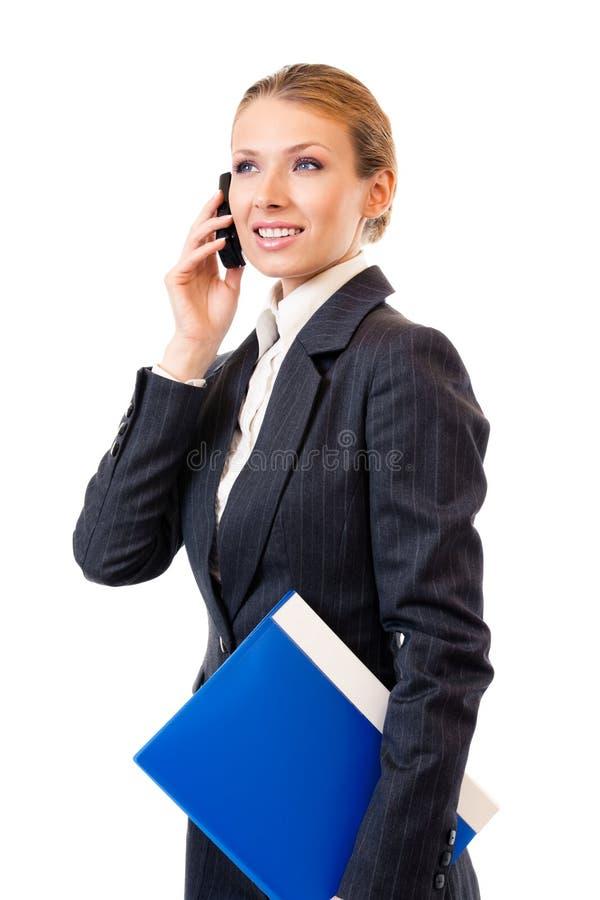 λευκό κινητών τηλεφώνων επ στοκ εικόνα
