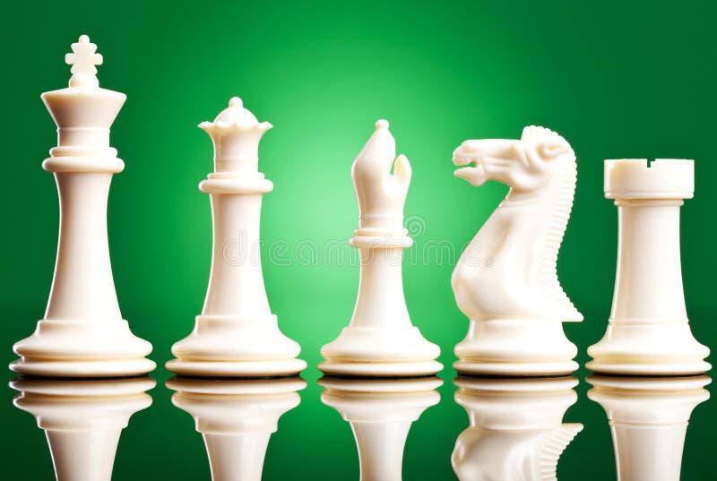 λευκό κομματιών σκακιού στοκ φωτογραφία με δικαίωμα ελεύθερης χρήσης