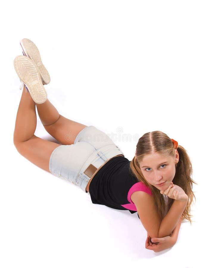 λευκό κοριτσιών ανασκόπησης στοκ εικόνες