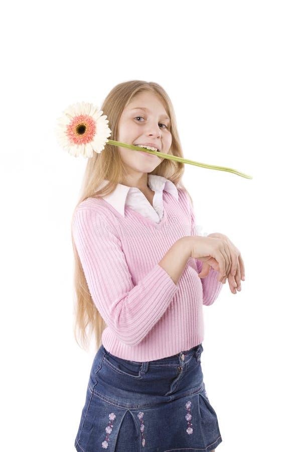 λευκό κοριτσιών ανασκόπησης στοκ φωτογραφία με δικαίωμα ελεύθερης χρήσης