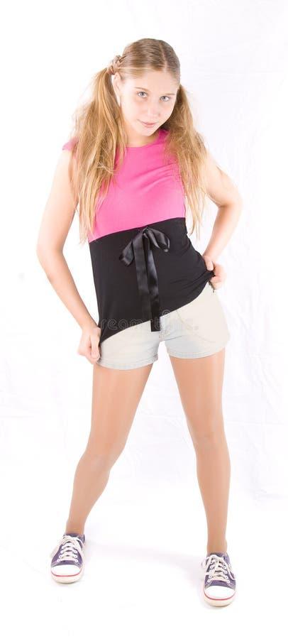 λευκό κοριτσιών ανασκόπησης στοκ εικόνα με δικαίωμα ελεύθερης χρήσης