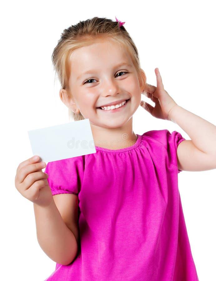 λευκό κοριτσιών καρτών στοκ φωτογραφίες