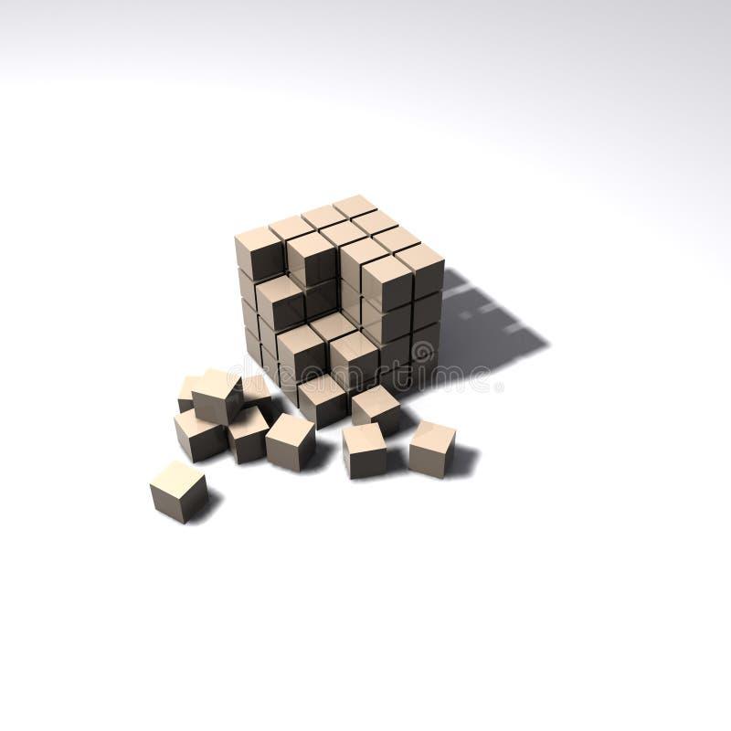 λευκό κύβων ανασκόπησης διανυσματική απεικόνιση