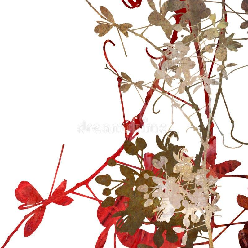 λευκό λουλουδιών τέχνη&sig διανυσματική απεικόνιση