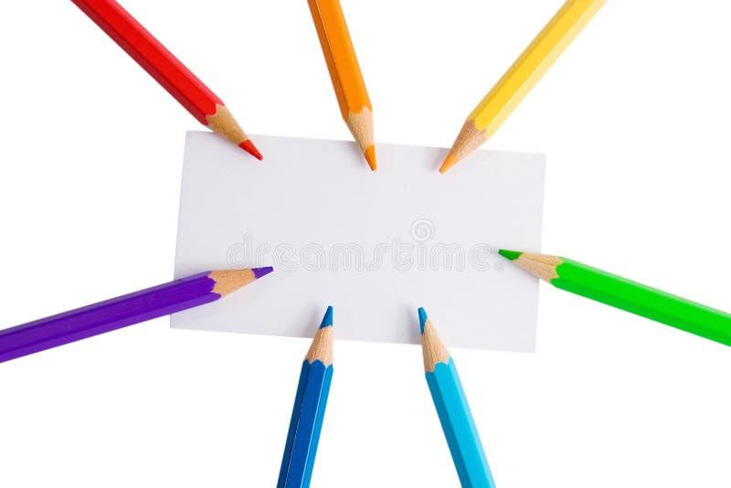 λευκό μολυβιών εγγράφο&ups στοκ φωτογραφία