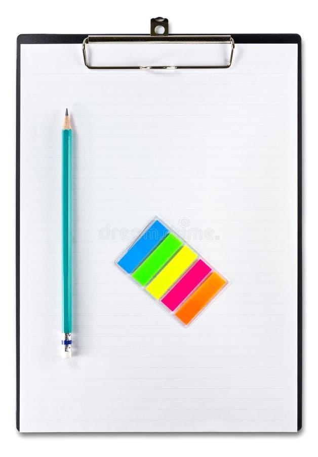 λευκό μολυβιών εγγράφο&ups στοκ φωτογραφίες