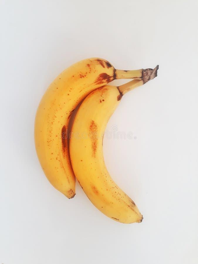 λευκό μπανανών ανασκόπηση&sig στοκ εικόνα