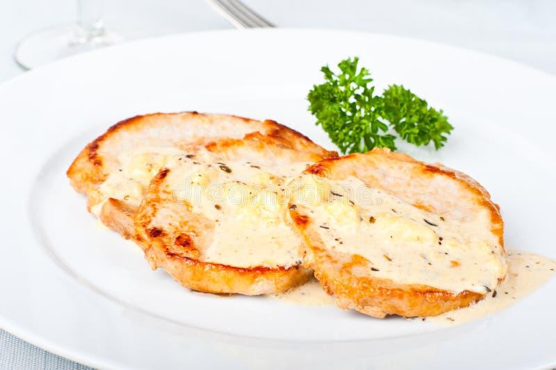 λευκό μπριζόλας σάλτσας στοκ εικόνες