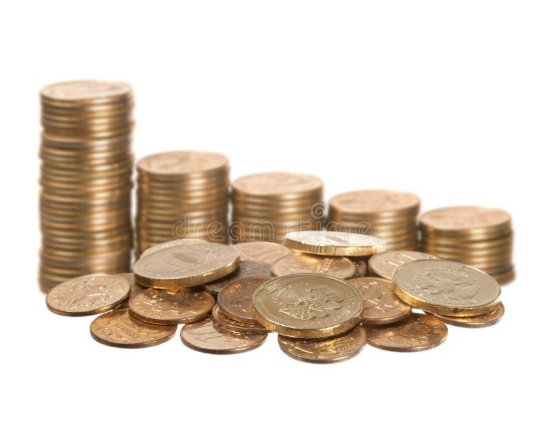 λευκό νομισμάτων στοκ φωτογραφίες